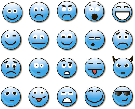 smileys: Smileys blue. Volume.