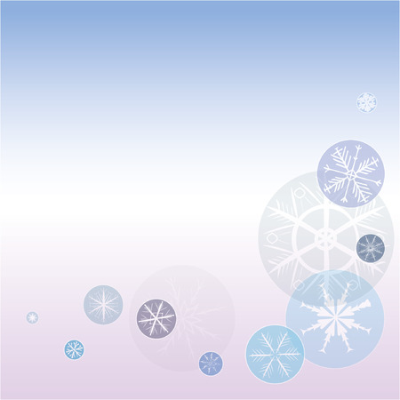 christmas carols: winter background with snowflakes. Snowflakes on a separate layer