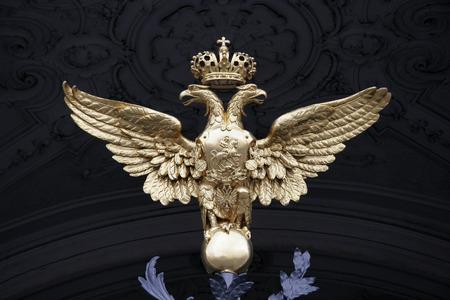 double headed: double headed eagle of the Russian Empire Stock Photo