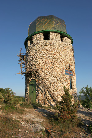 recluse: Christian monastery located high in the mountains of Crimea