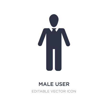 male user icon on white background. Simple element illustration from People concept. male user icon symbol design. Illustration