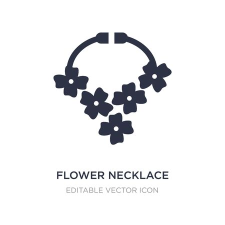 flower necklace icon on white background. Simple element illustration from Holidays concept. flower necklace icon symbol design.