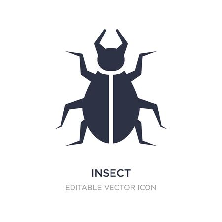 insect icon on white background. Simple element illustration from Animals concept. insect icon symbol design.
