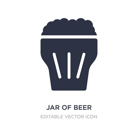 jar of beer icon on white background. Simple element illustration from Food concept. jar of beer icon symbol design. Illustration