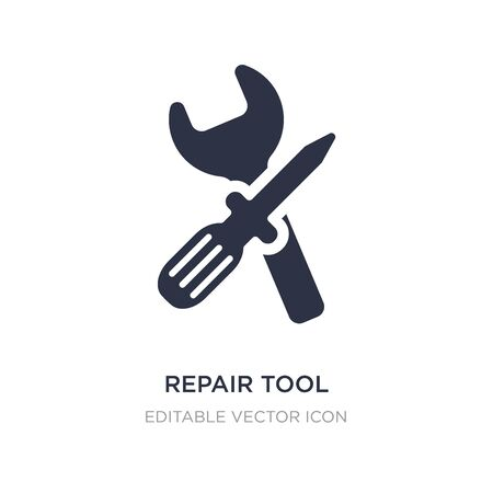 repair tool icon on white background. Simple element illustration from Edit tools concept. repair tool icon symbol design.
