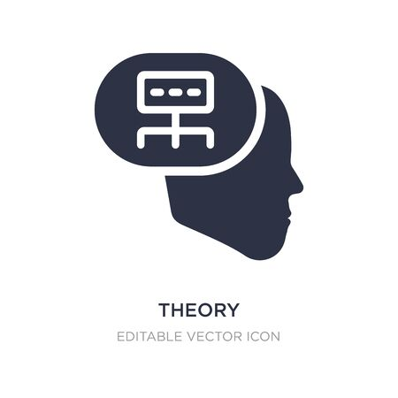 theory icon on white background. Simple element illustration from Communications concept. theory icon symbol design.
