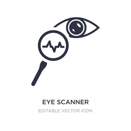 eye scanner medical icon on white background. Simple element illustration from Medical concept. eye scanner medical icon symbol design.
