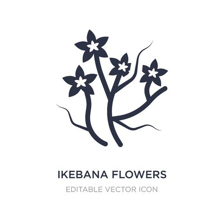 ikebana flowers icon on white background. Simple element illustration from Nature concept. ikebana flowers icon symbol design.