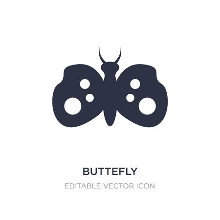 buttefly icon on white background. Simple element illustration from Animals concept. buttefly icon symbol design.