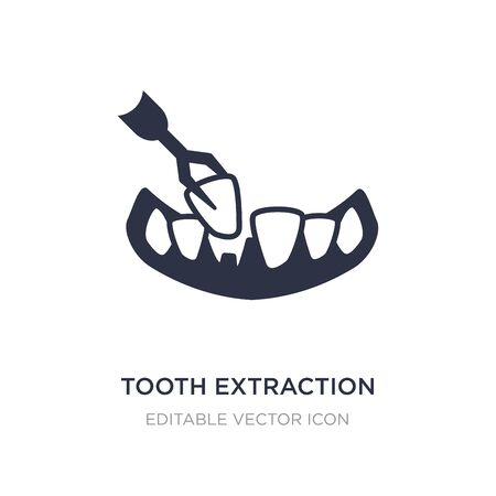 tooth extraction icon on white background. Simple element illustration from Dentist concept. tooth extraction icon symbol design.
