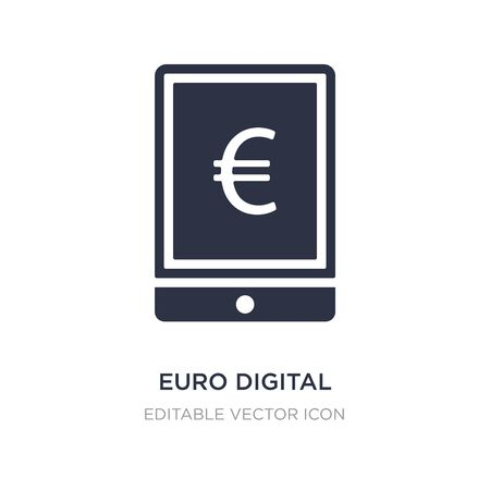 euro digital commerce icon on white background. Simple element illustration from Computer concept. euro digital commerce icon symbol design.