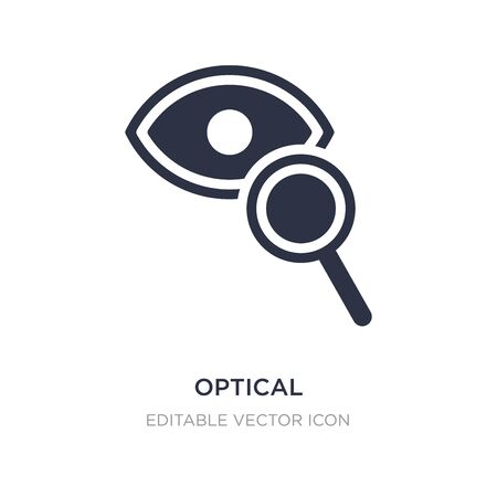 optical icon on white background. Simple element illustration from Tools and utensils concept. optical icon symbol design.