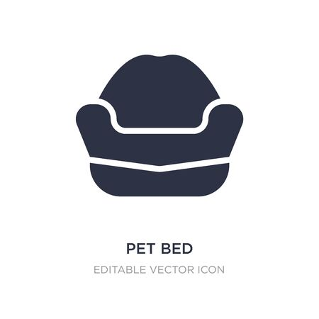 pet bed icon on white background. Simple element illustration from Animals concept. pet bed icon symbol design. Illusztráció