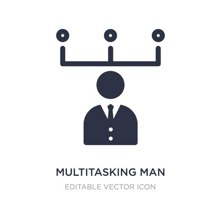 multitasking man icon on white background. Simple element illustration from Web concept. multitasking man icon symbol design.