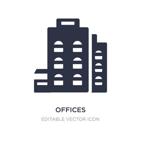 offices icon on white background. Simple element illustration from UI concept. offices icon symbol design. Illustration