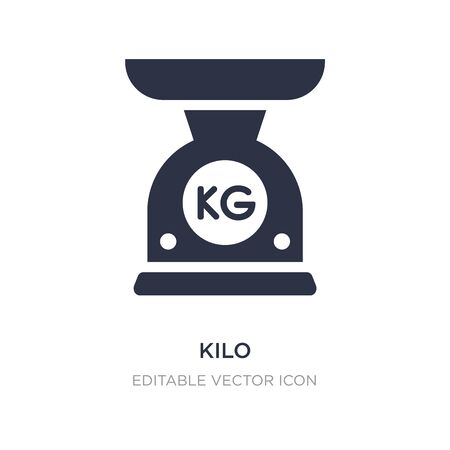kilo icon on white background. Simple element illustration from General concept. kilo icon symbol design.