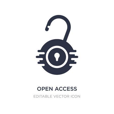 open access icon on white background. Simple element illustration from Security concept. open access icon symbol design. Illusztráció