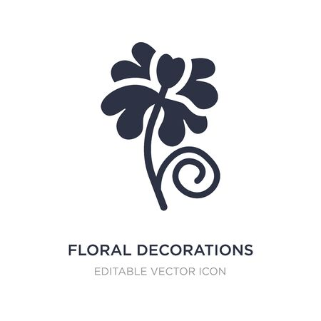 floral decorations icon on white background. Simple element illustration from Nature concept. floral decorations icon symbol design. Иллюстрация