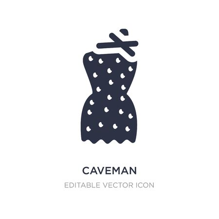 caveman icon on white background. Simple element illustration from Fashion concept. caveman icon symbol design.