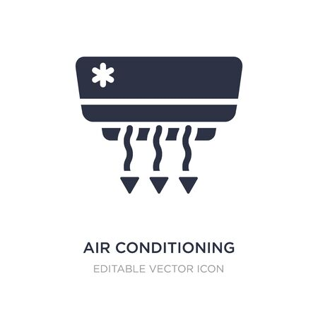 air conditioning icon on white background. Simple element illustration from Tools and utensils concept. air conditioning icon symbol design. Illusztráció