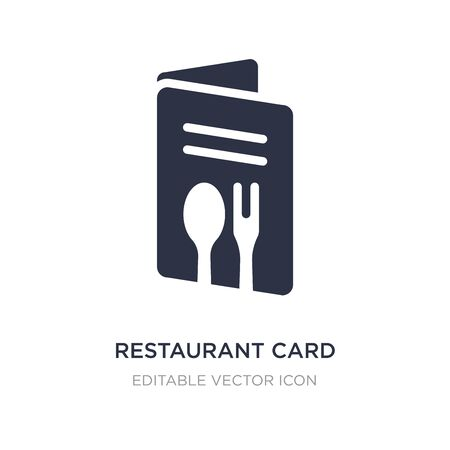 restaurant card icon on white background. Simple element illustration from Commerce concept. restaurant card icon symbol design. Иллюстрация