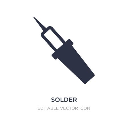 solder icon on white background. Simple element illustration from Construction and tools concept. solder icon symbol design.