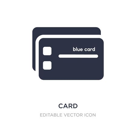 card icon on white background. Simple element illustration from Edit tools concept. card icon symbol design.