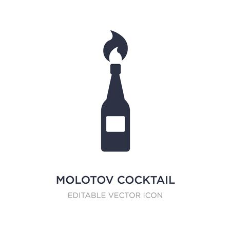 molotov cocktail icon on white background. Simple element illustration from Weapons concept. molotov cocktail icon symbol design.