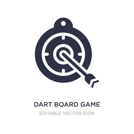 dart board game icon on white background. Simple element illustration from Weapons concept. dart board game icon symbol design.