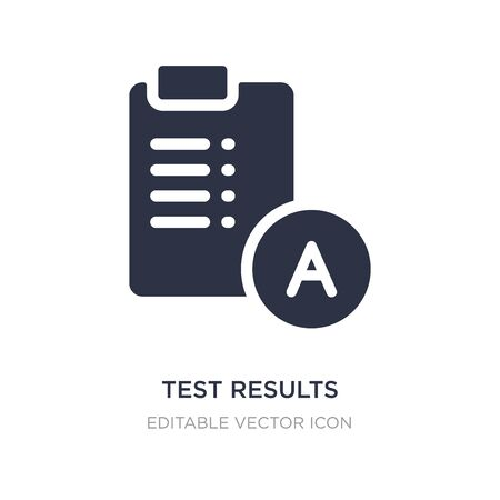 test results icon on white background. Simple element illustration from Education concept. test results icon symbol design.