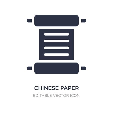 chinese paper writing icon on white background. Simple element illustration from Art concept. chinese paper writing icon symbol design.