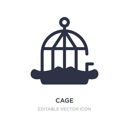 cage icon on white background. Simple element illustration from Animals concept. cage icon symbol design. Stock Illustratie