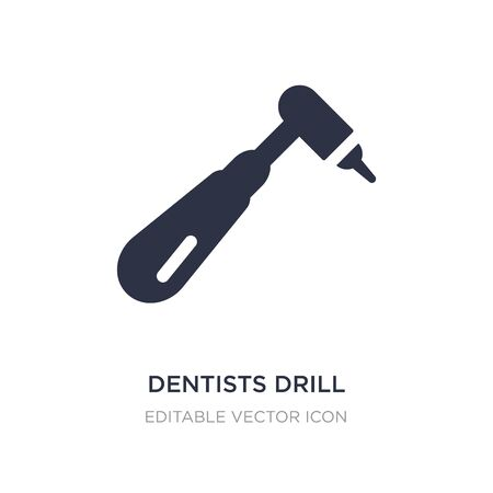 dentists drill tool icon on white background. Simple element illustration from Dentist concept. dentists drill tool icon symbol design. Illustration