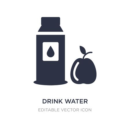 drink water icon on white background. Simple element illustration from Food concept. drink water icon symbol design.