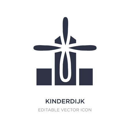 kinderdijk windmills icon on white background. Simple element illustration from Monuments concept. kinderdijk windmills icon symbol design.