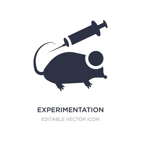 experimentation icon on white background. Simple element illustration from Education concept. experimentation icon symbol design. Illustration