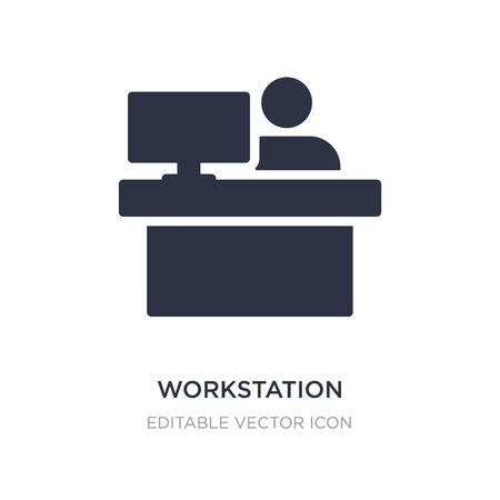 workstation icon on white background. Simple element illustration from Computer concept. workstation icon symbol design.