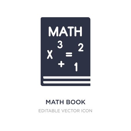 math book icon on white background. Simple element illustration from Education concept. math book icon symbol design.