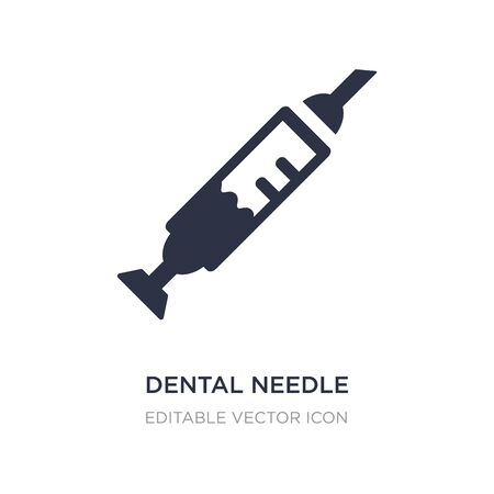 dental needle icon on white background. Simple element illustration from Dentist concept. dental needle icon symbol design. Illustration