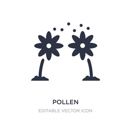 pollen icon on white background. Simple element illustration from Nature concept. pollen icon symbol design.