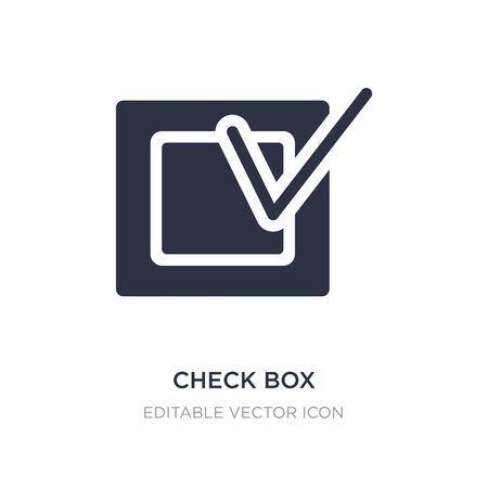check box icon on white background. Simple element illustration from UI concept. check box icon symbol design. Illusztráció