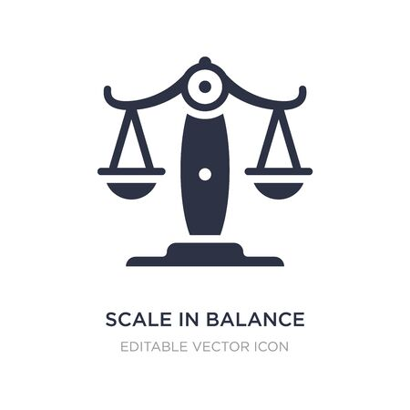 scale in balance icon on white background. Simple element illustration from Business concept. scale in balance icon symbol design.