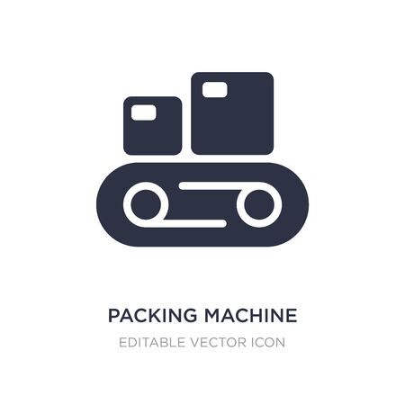packing machine icon on white background. Simple element illustration from Tools and utensils concept. packing machine icon symbol design. Illusztráció
