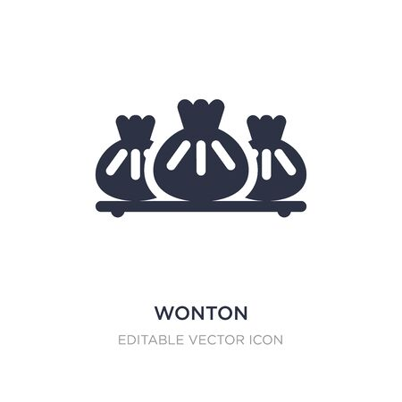 wonton icon on white background. Simple element illustration from Food concept. wonton icon symbol design.