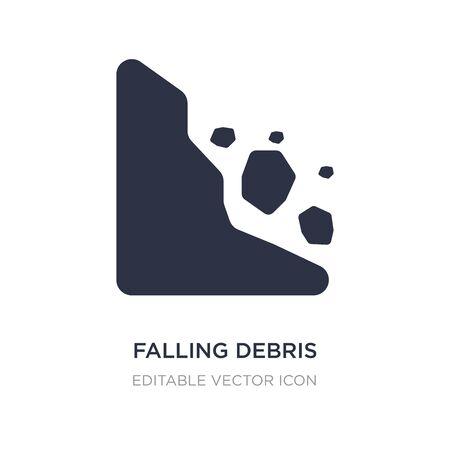falling debris icon on white background. Simple element illustration from Nature concept. falling debris icon symbol design.