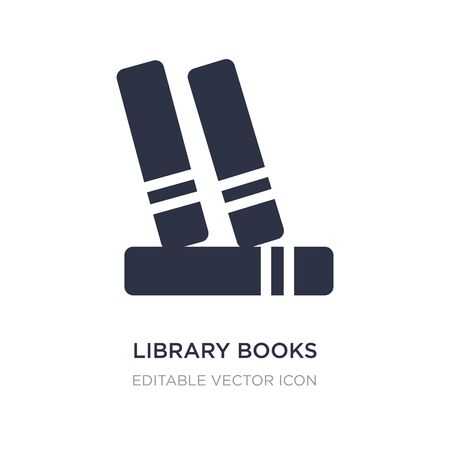 library books icon on white background. Simple element illustration from Education concept. library books icon symbol design.