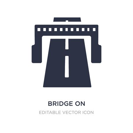 bridge on avenue perspective icon on white background. Simple element illustration from General concept. bridge on avenue perspective icon symbol design. Illustration