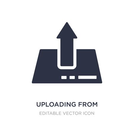 uploading from drive icon on white background. Simple element illustration from UI concept. uploading from drive icon symbol design.