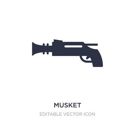 musket icon on white background. Simple element illustration from Weapons concept. musket icon symbol design.