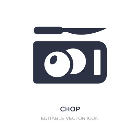 chop icon on white background. Simple element illustration from Food concept. chop icon symbol design. Illusztráció